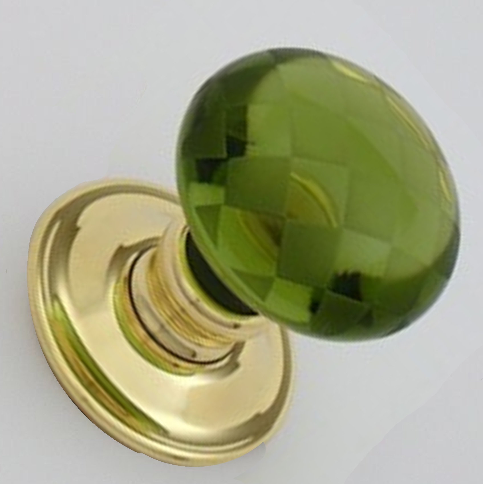 green glass door knob photo - 10