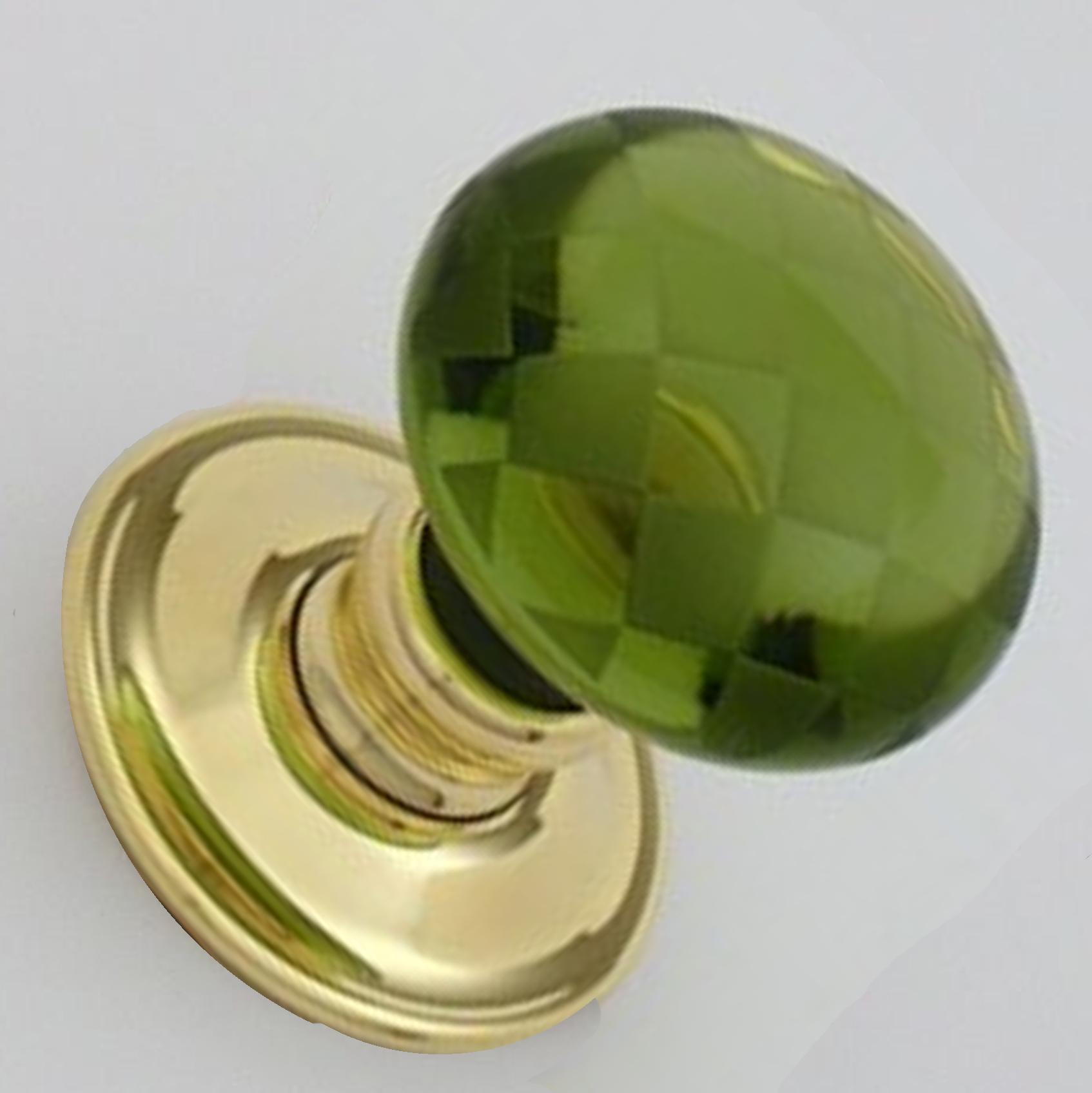 Green glass door knob – Door Knobs