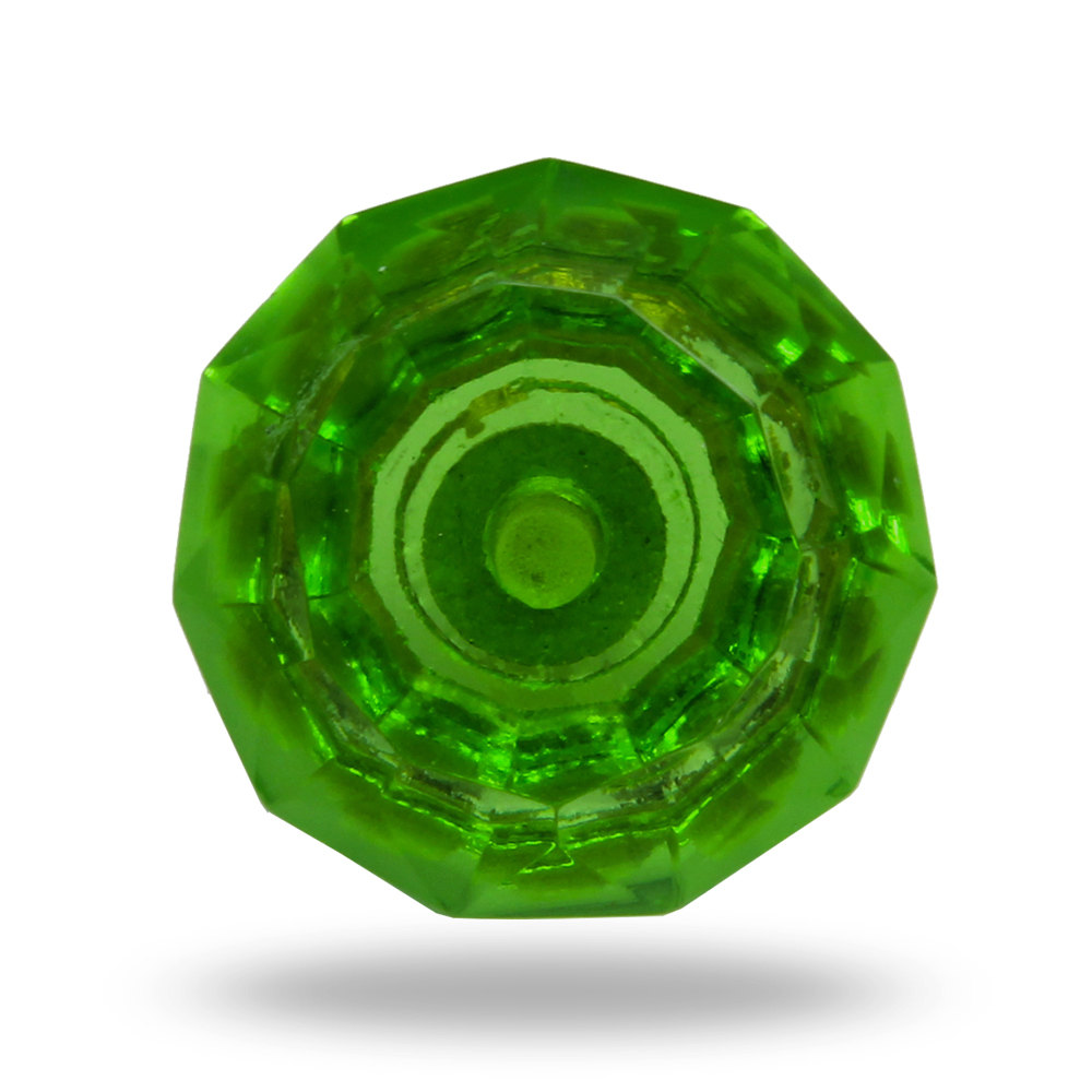 green glass door knob photo - 11