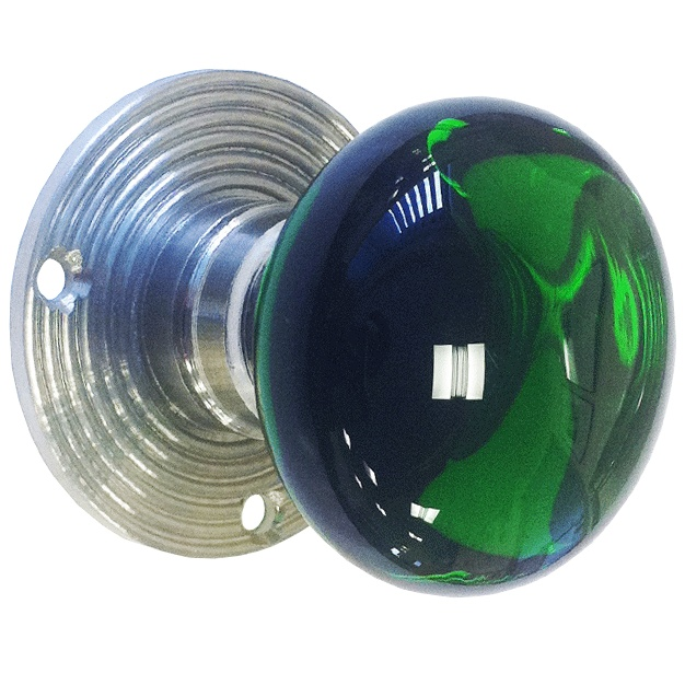 green glass door knob photo - 2