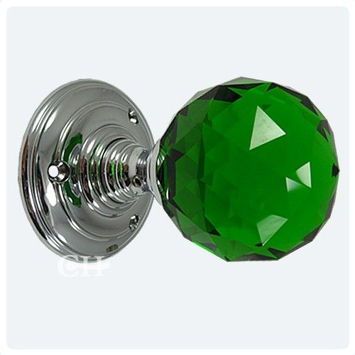 green glass door knobs photo - 12