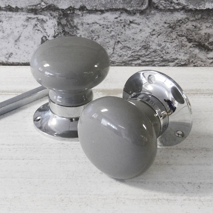 grey door knobs photo - 5