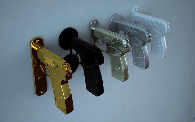 gun door knobs photo - 7