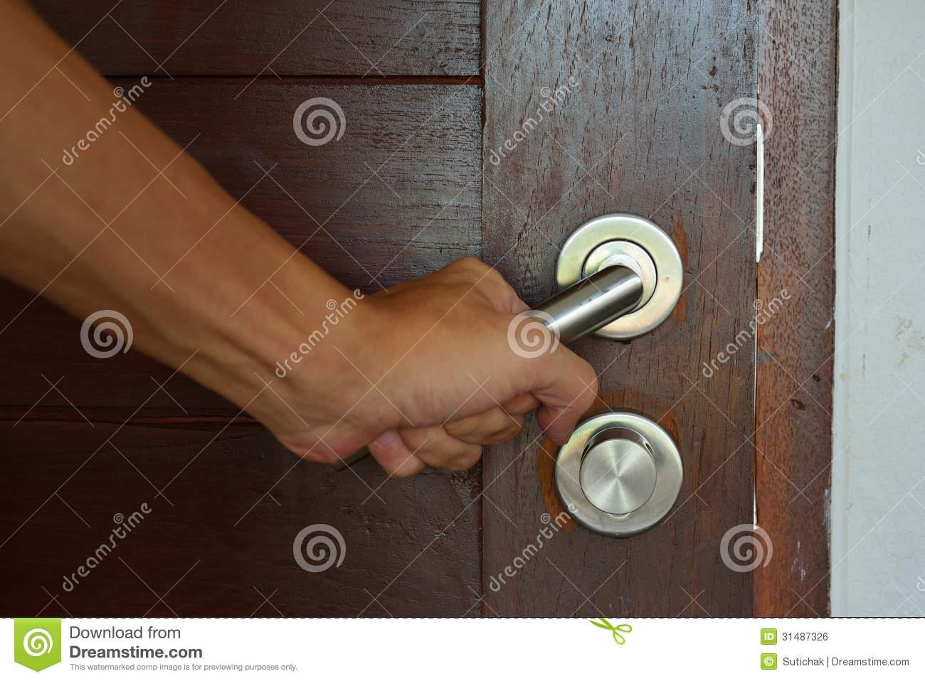 hand door knob photo - 12