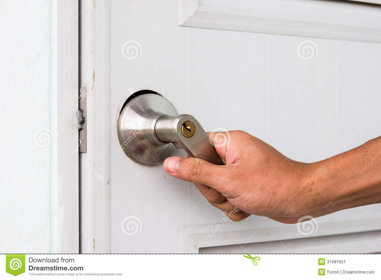 hand on door knob photo - 19