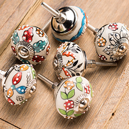 hand painted door knobs photo - 2