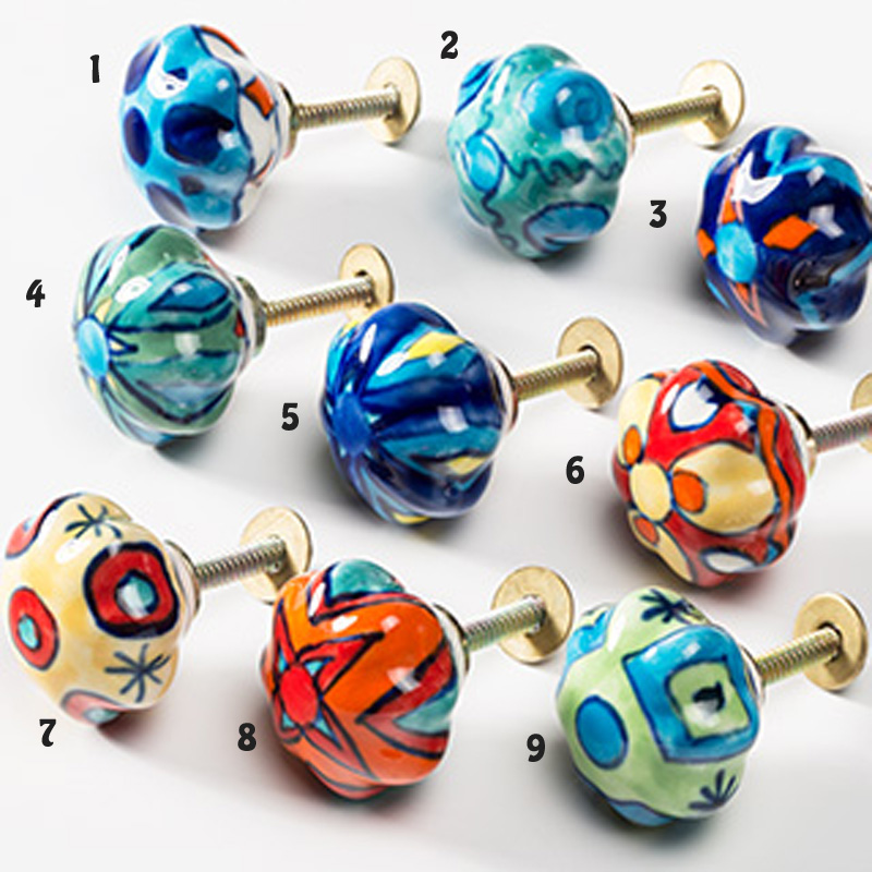 hand painted door knobs photo - 6