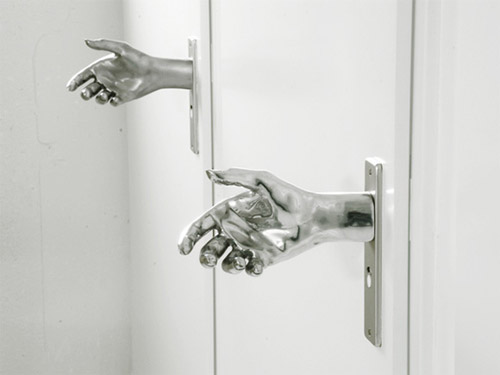 handshake door knob photo - 3