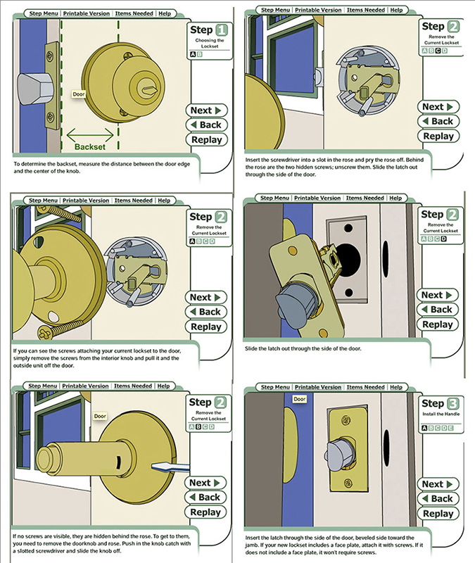 Installing a door knob – Door Knobs