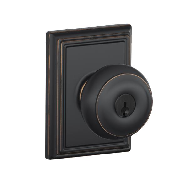 keyed entry door knob sets photo - 9