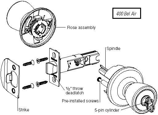kwikset door knob parts photo - 2