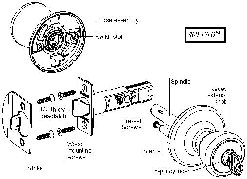 kwikset door knob parts photo - 3