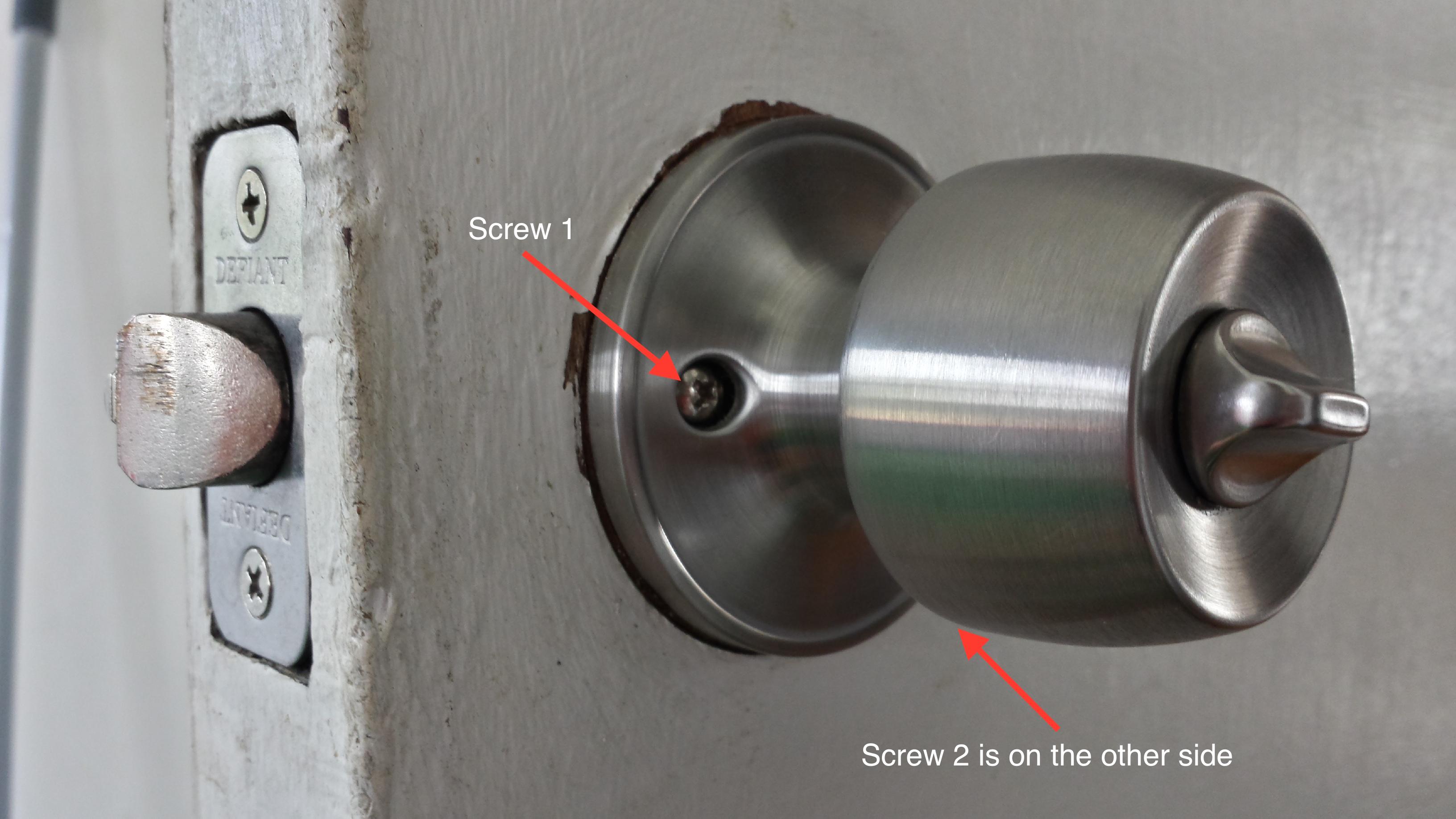 kwikset door knob removal photo - 10