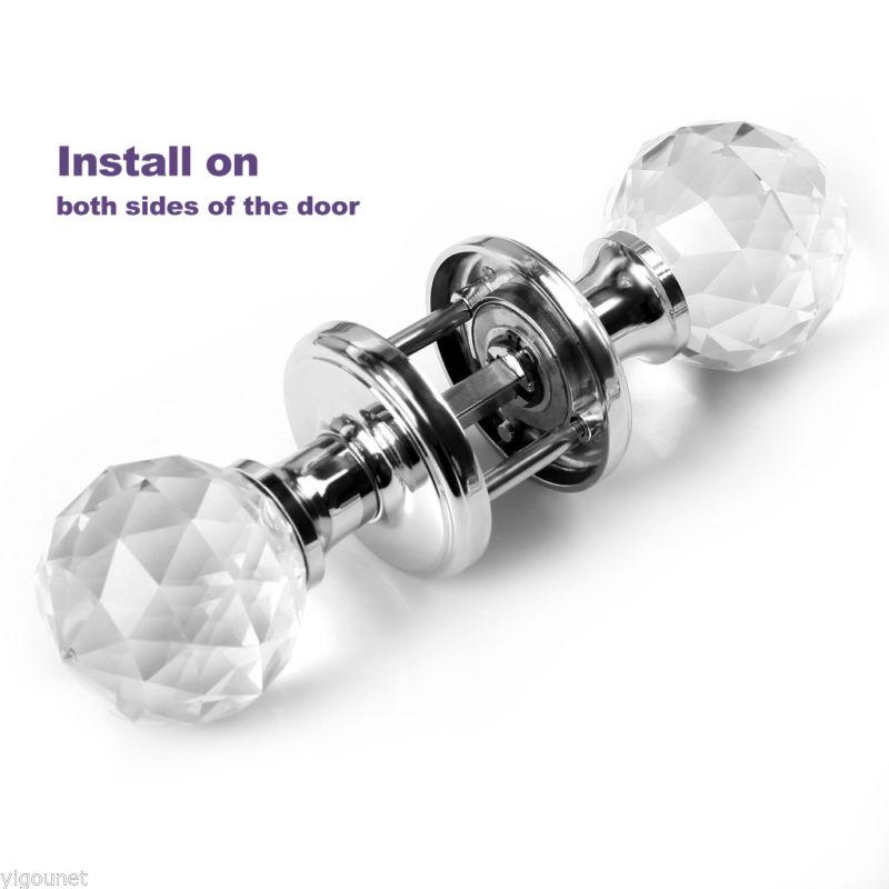 large glass door knobs photo - 10