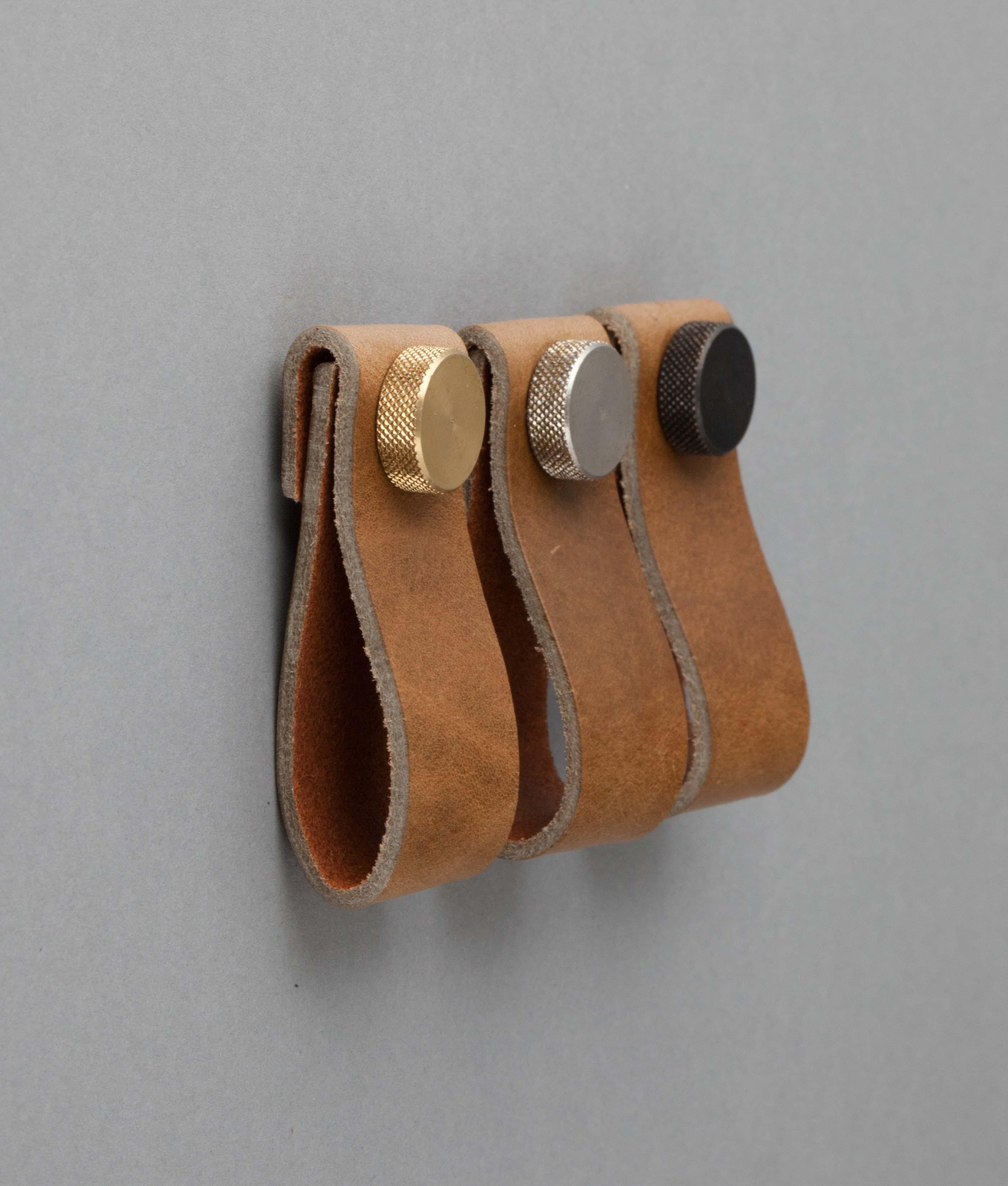 leather door knobs photo - 3