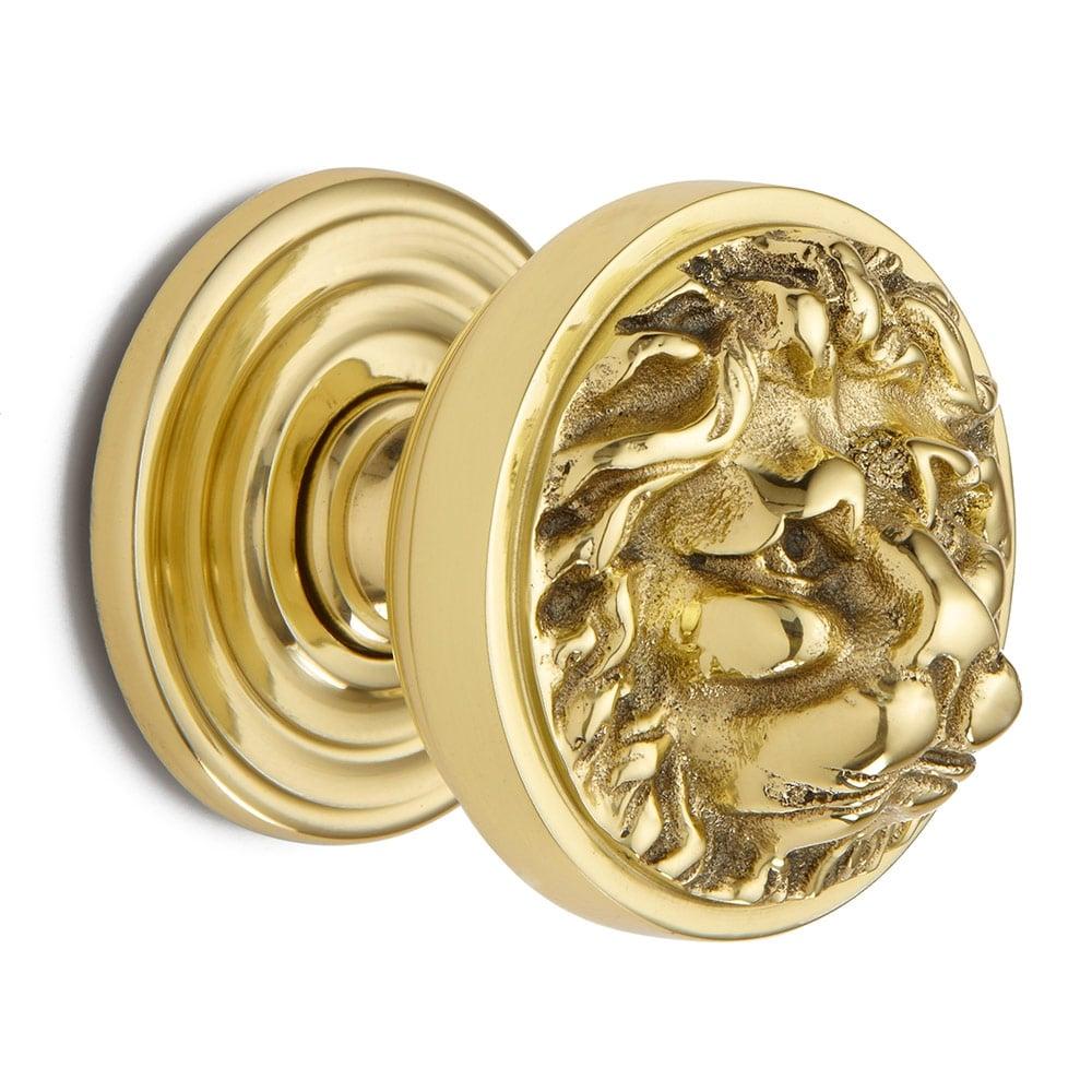 lion head door knob photo - 2