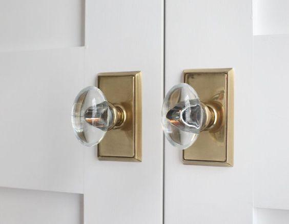 modern glass door knobs photo - 6