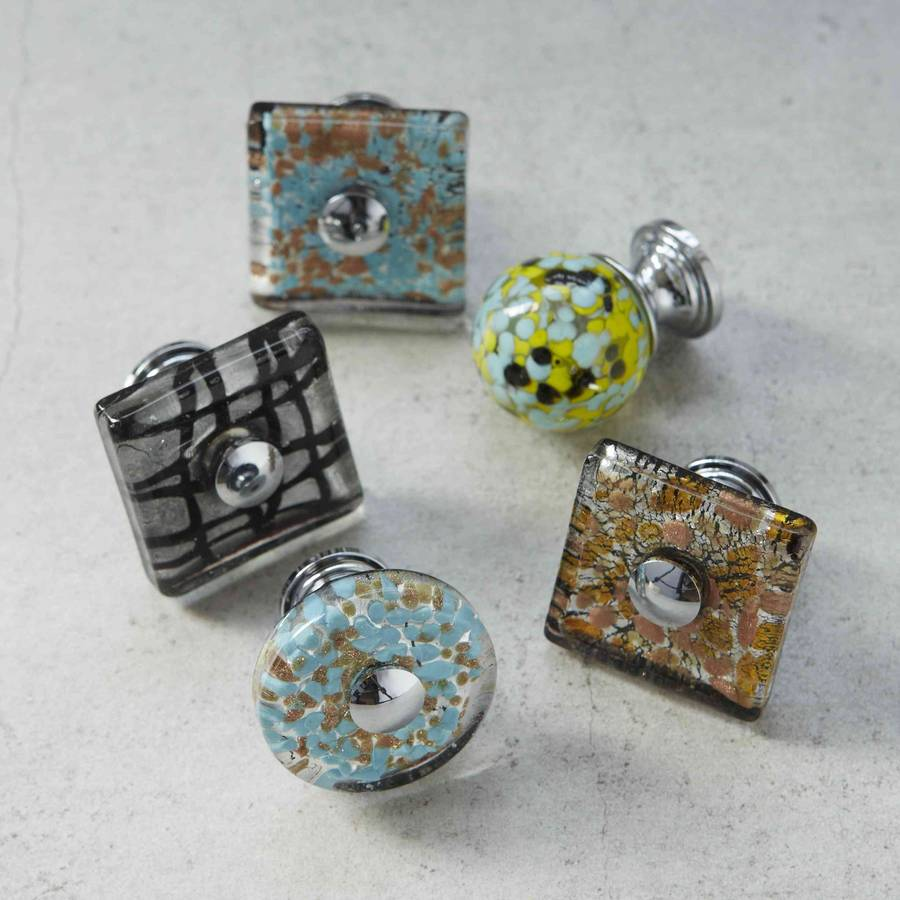 murano glass door knobs photo - 4