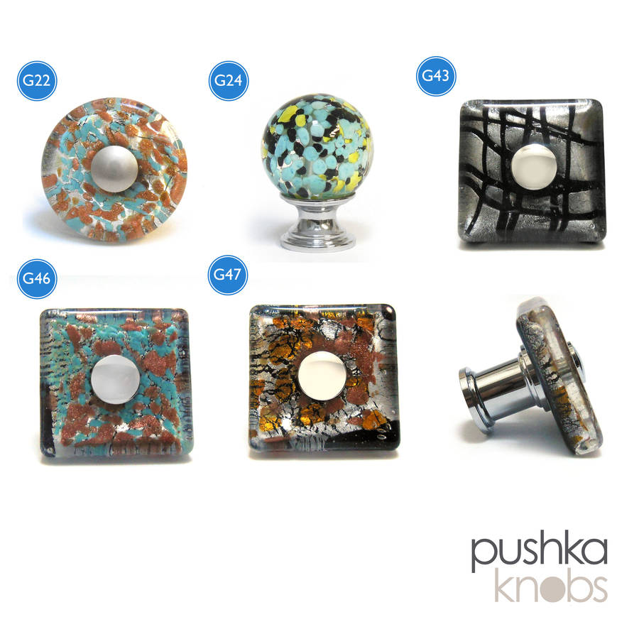 murano glass door knobs photo - 6