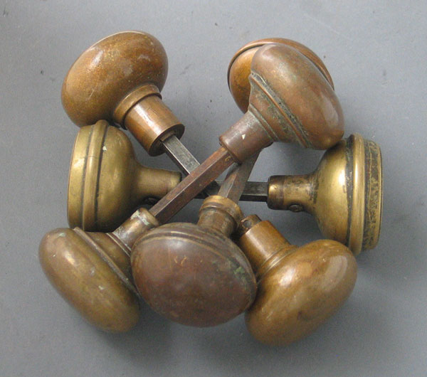 old brass door knobs photo - 9