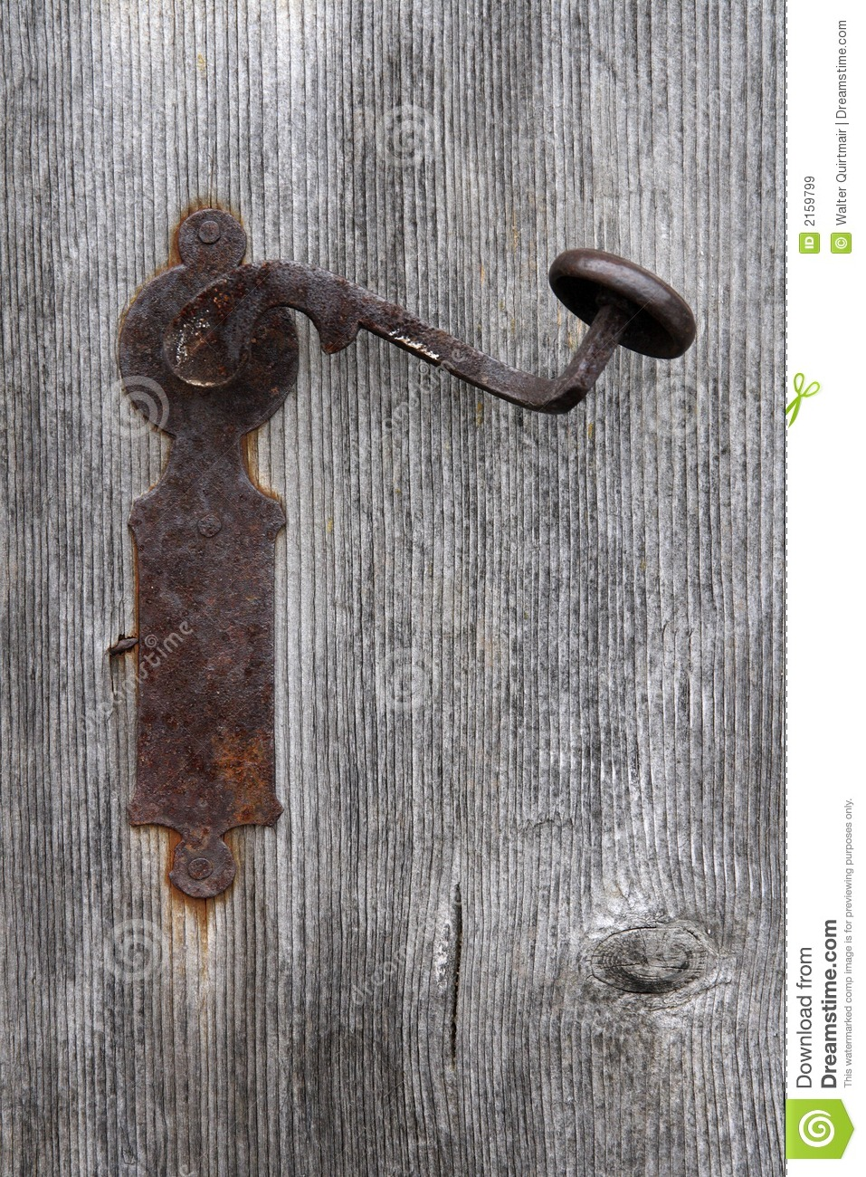 old fashioned door knob photo - 7