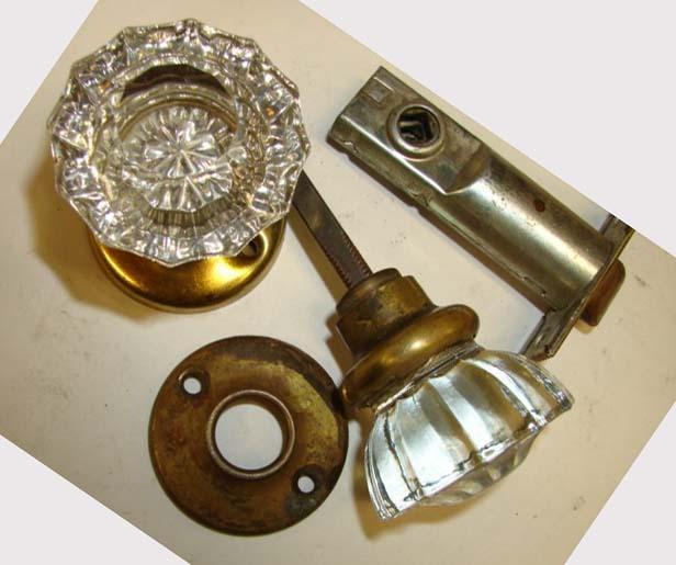 old glass door knobs photo - 8