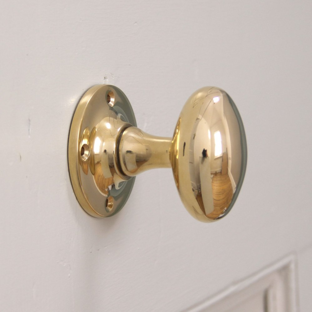 oval brass door knobs photo - 1