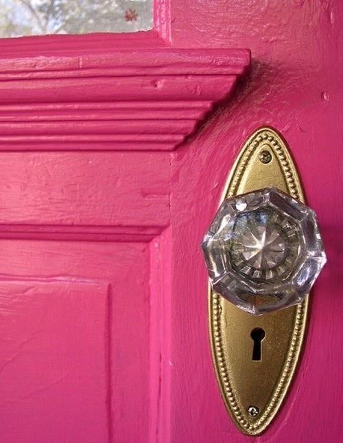 pink door knob photo - 12