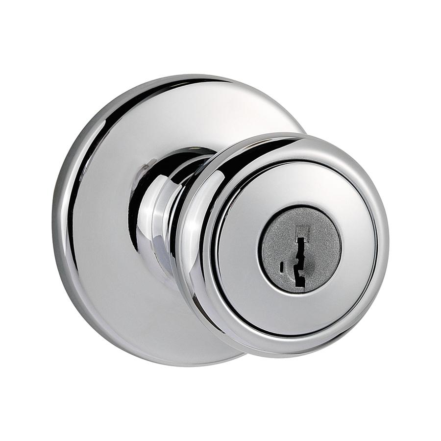polished chrome door knob photo - 12