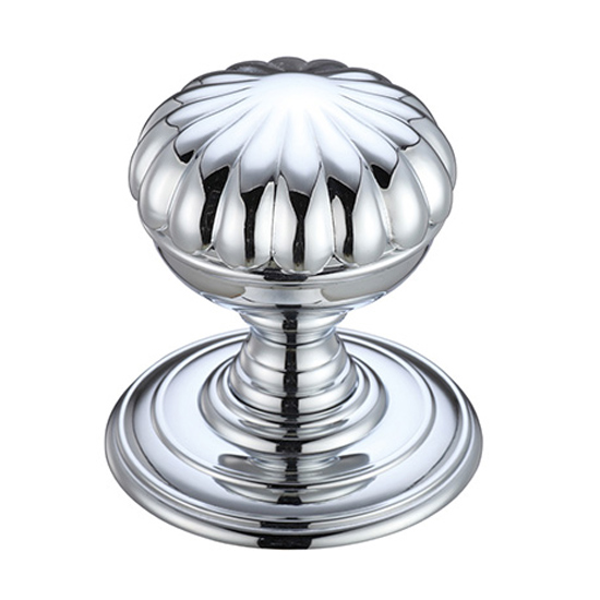 polished chrome door knobs photo - 11