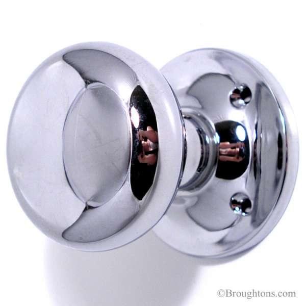polished chrome door knobs photo - 3