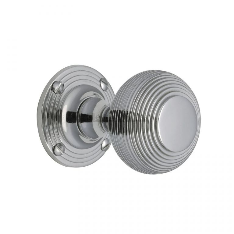 polished chrome door knobs photo - 6