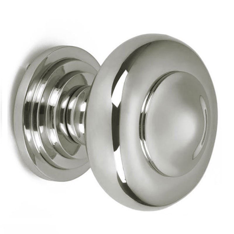 polished nickel door knob photo - 16