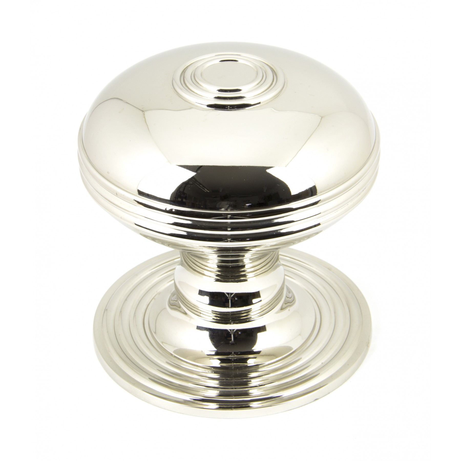polished nickel door knob photo - 8