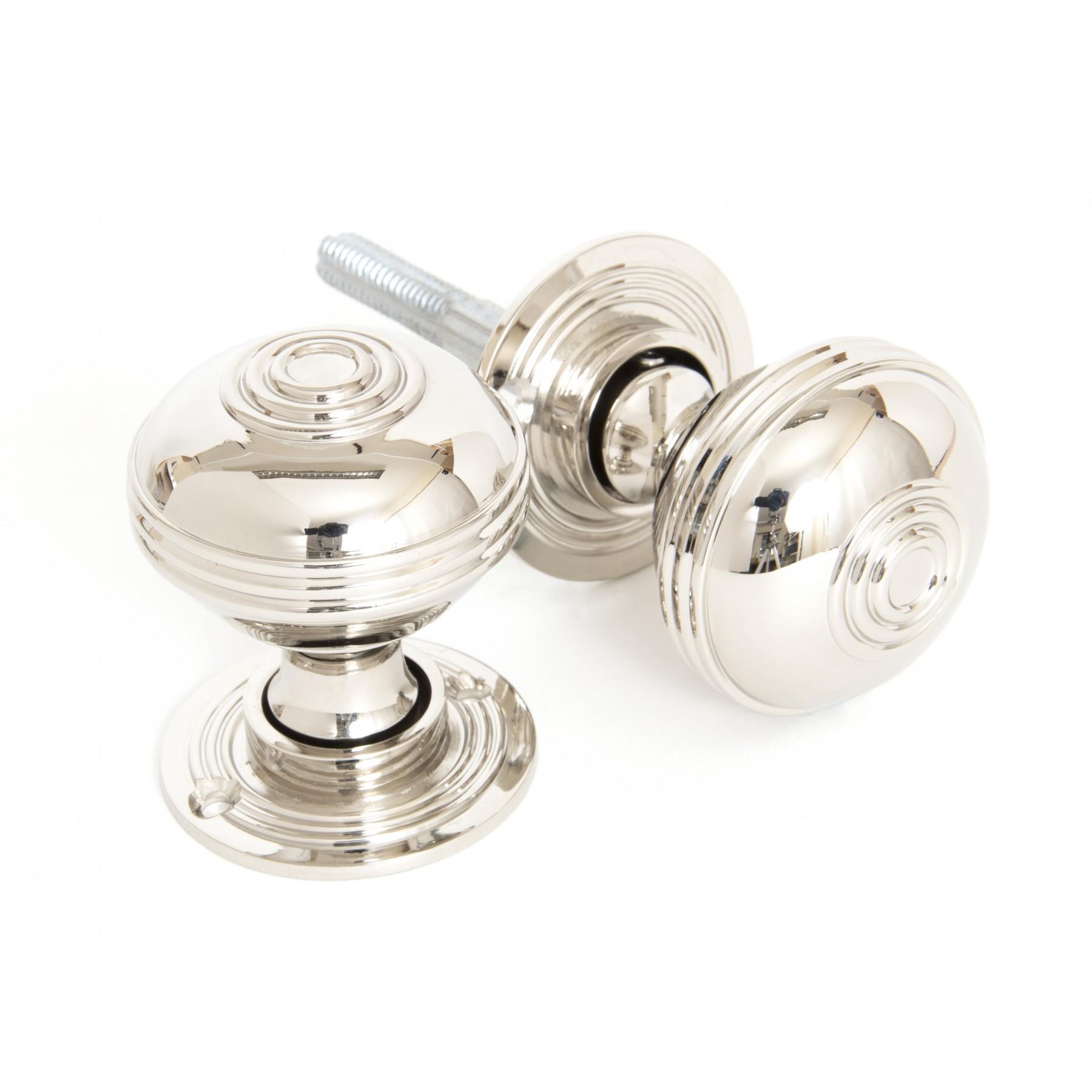 polished nickel door knobs photo - 12