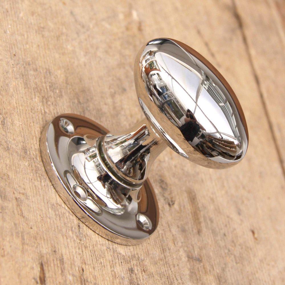 polished nickel door knobs photo - 2