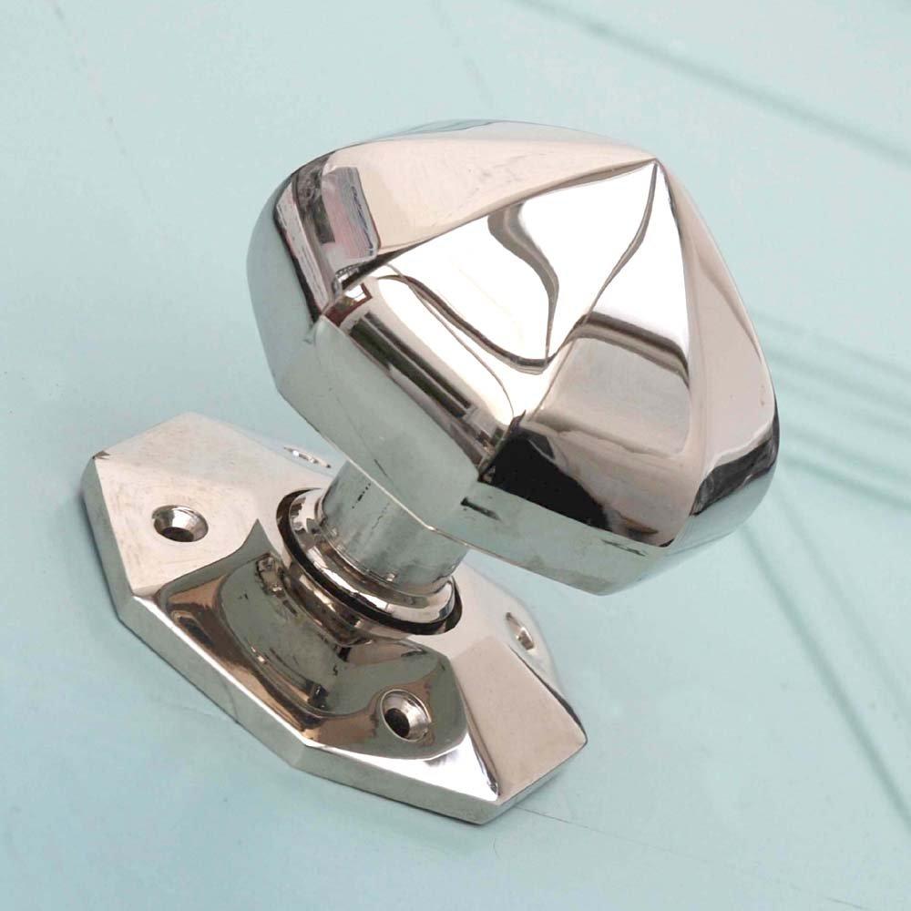 polished nickel door knobs photo - 7