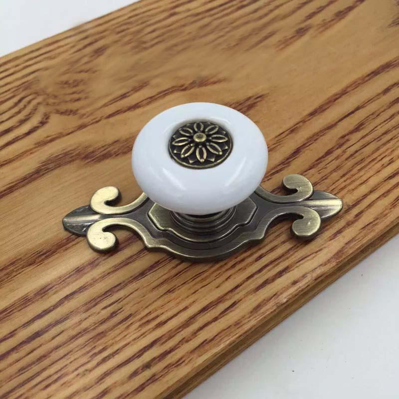porcelain cupboard door knobs photo - 14
