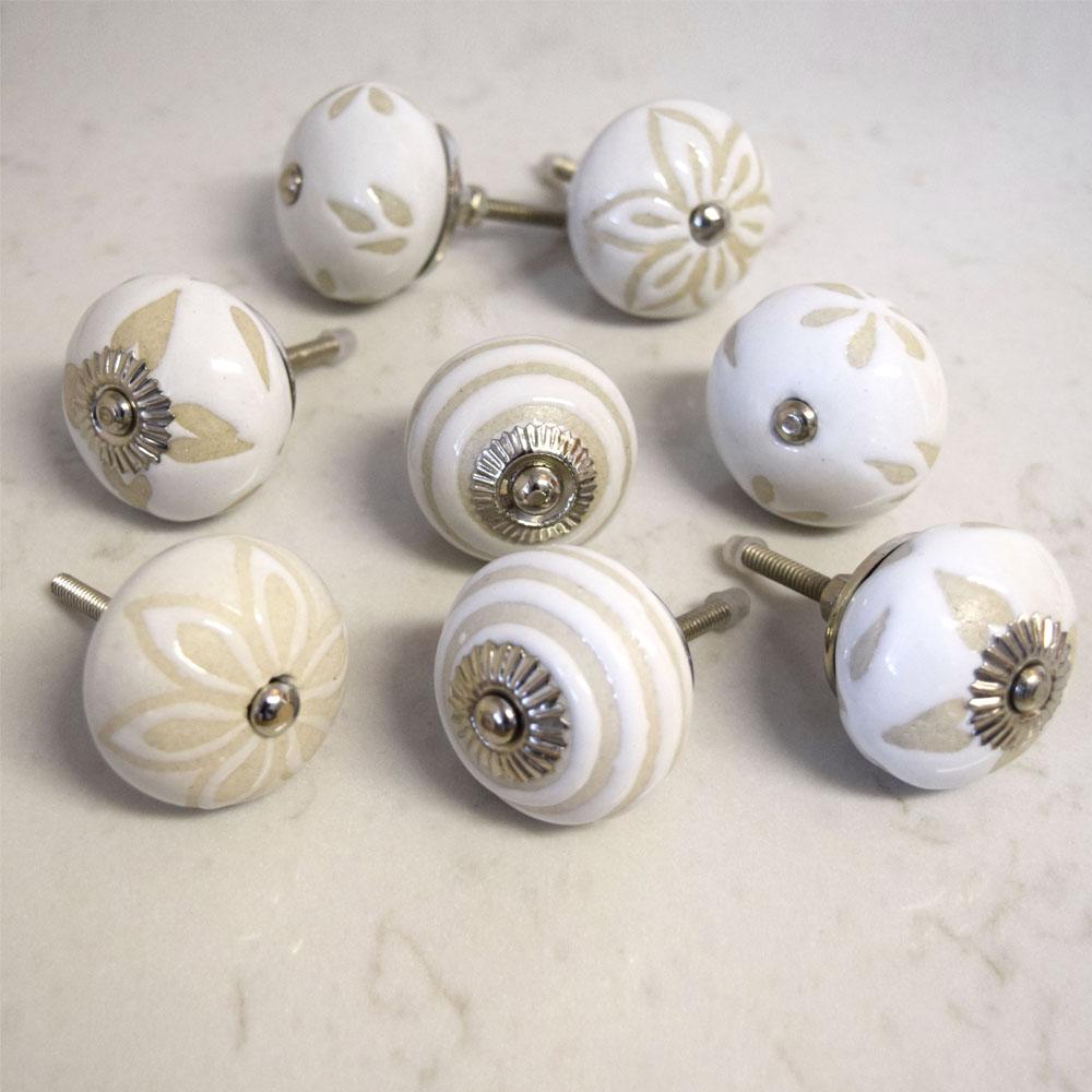 porcelain cupboard door knobs photo - 2