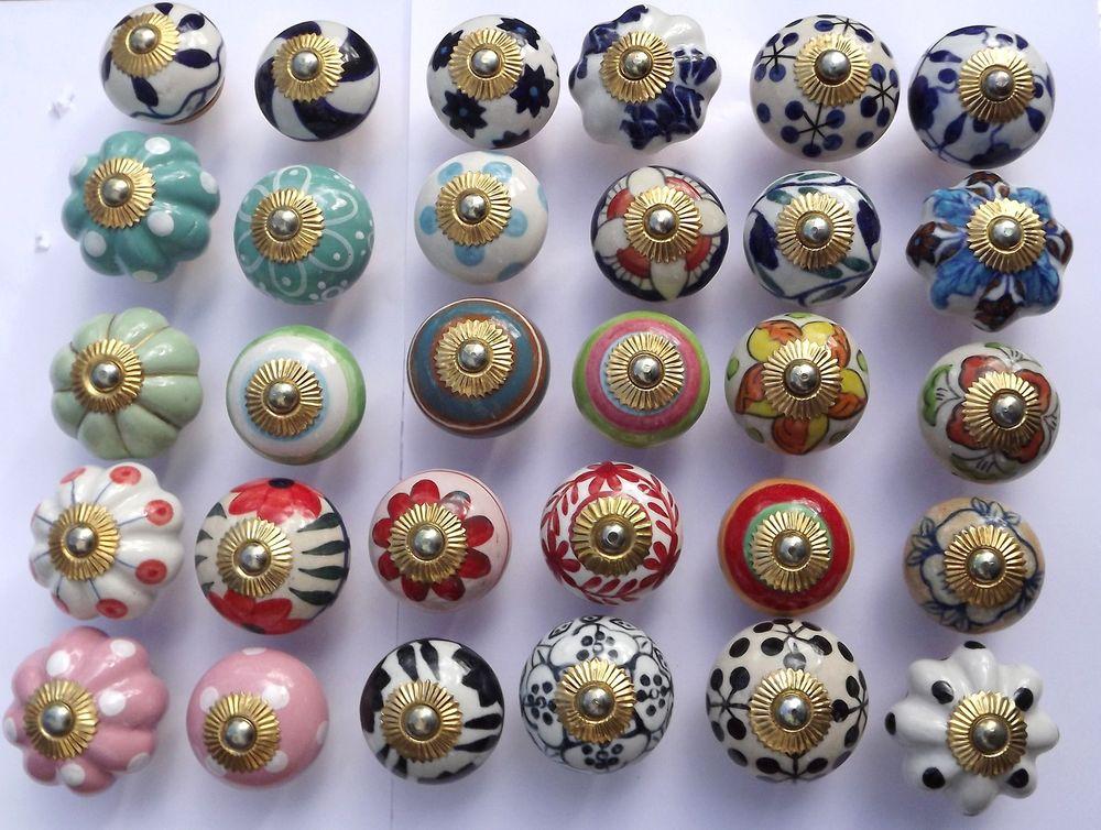 porcelain cupboard door knobs photo - 20