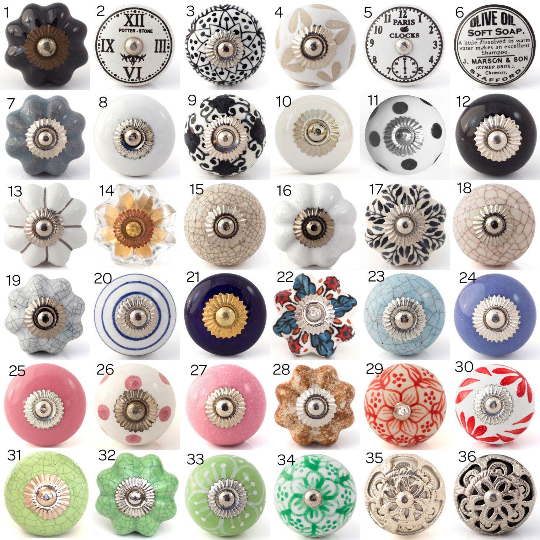 porcelain cupboard door knobs photo - 8