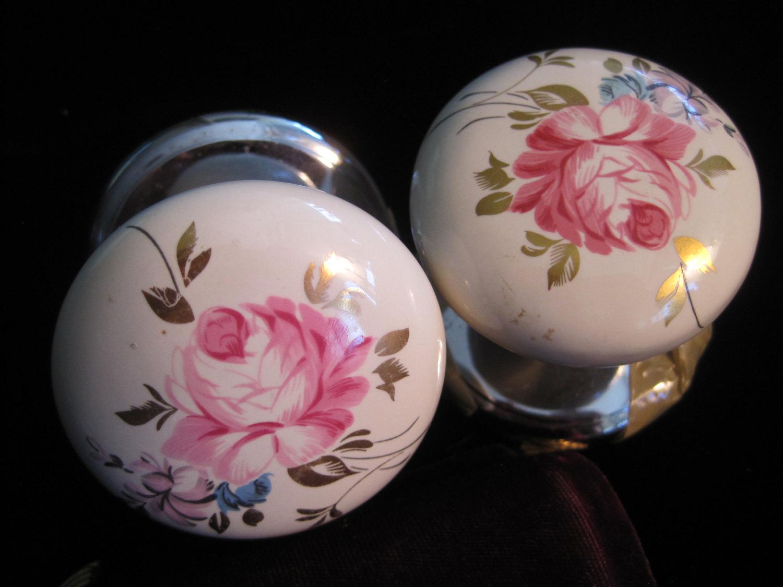 porcelain door knobs floral photo - 15