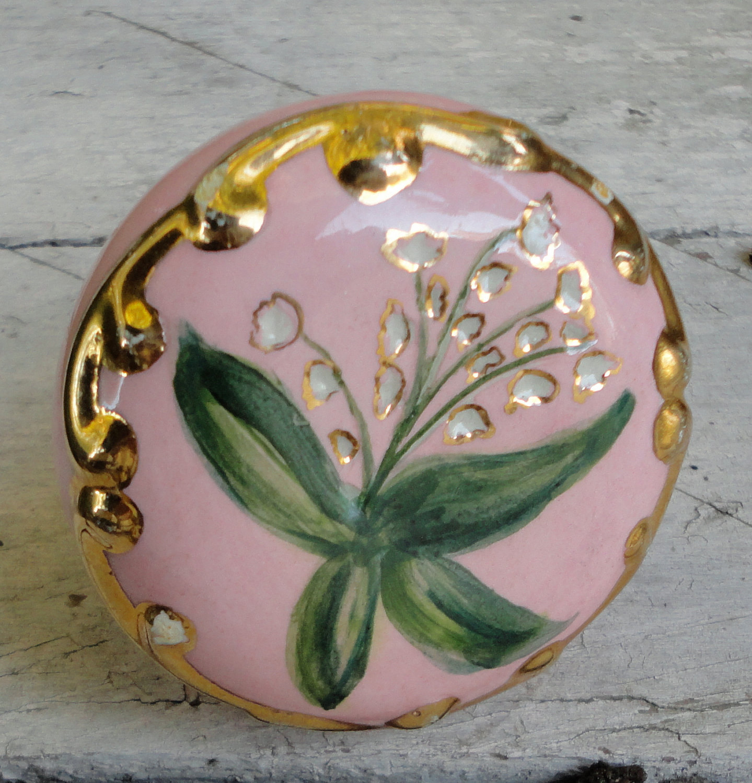 porcelain door knobs floral photo - 20