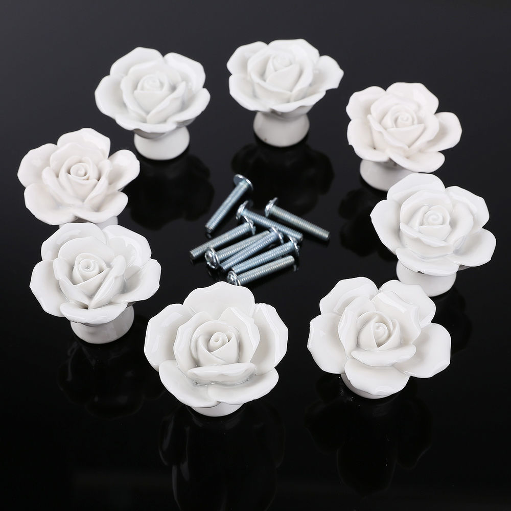 porcelain door knobs floral photo - 9
