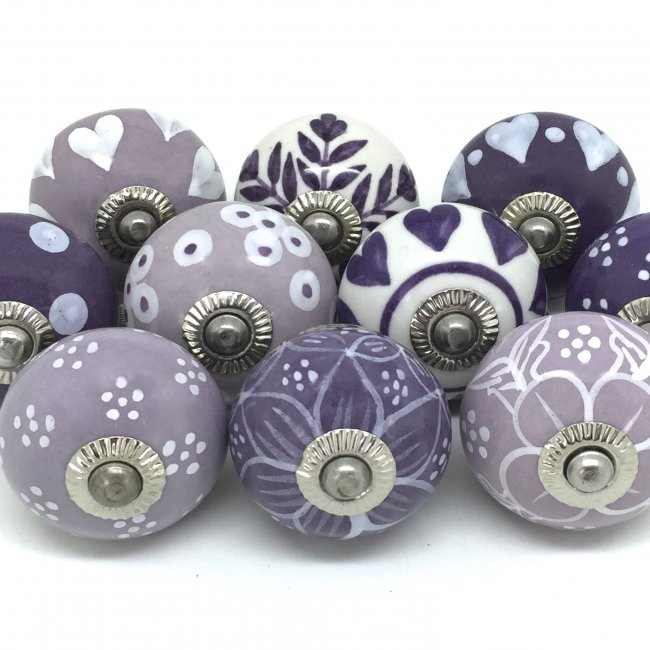 purple door knobs photo - 13