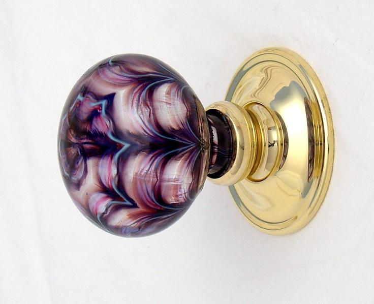 purple glass door knob photo - 9