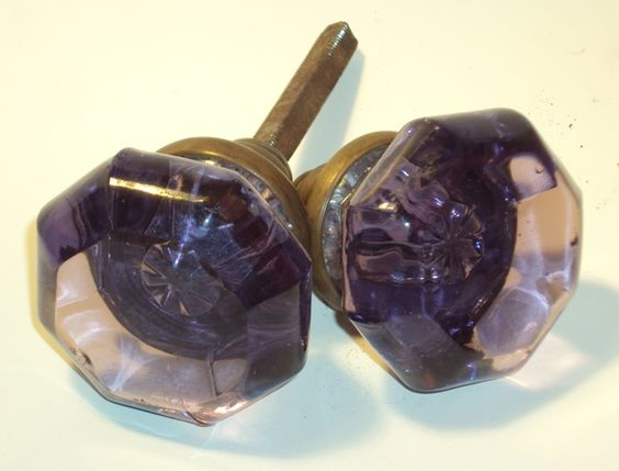 purple glass door knobs photo - 17