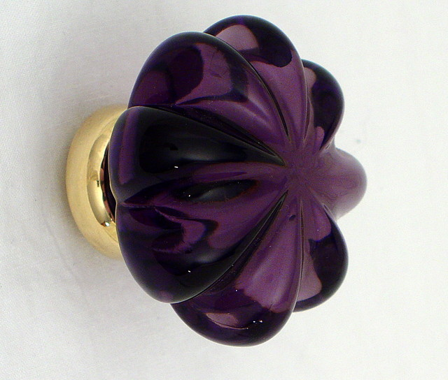 purple glass door knobs photo - 18