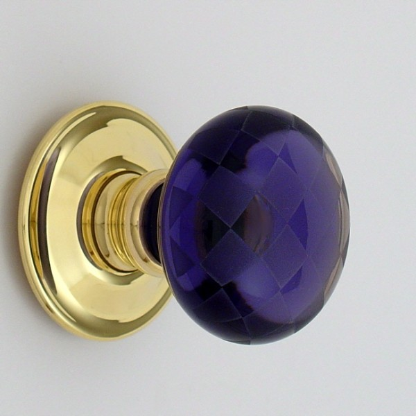 purple glass door knobs photo - 20