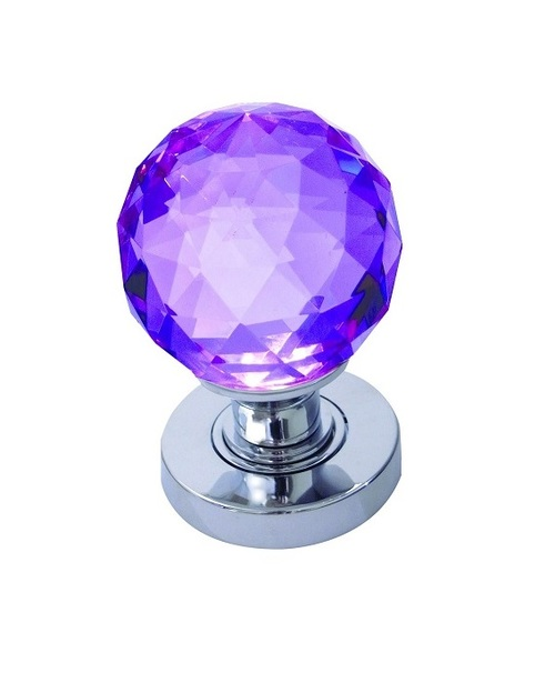 purple glass door knobs photo - 7